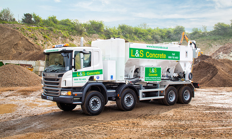 L&S Waste Management - Our Fleet - Concrete Lorry - Portsmouth Southampton Hampshire Fareham