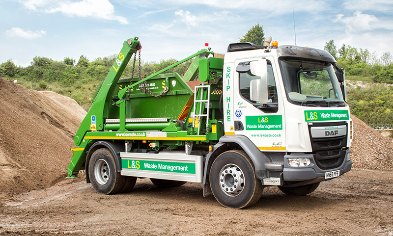 L&S Waste Management - Our Fleet - Skip Lorry - Portsmouth Southampton Hampshire Fareham