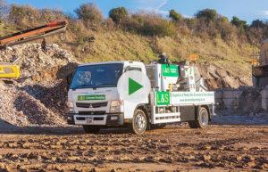 L&S Waste Management - L&S Waste Concrete Line Pumping Video - Hampshire Portsmouth Southampton Fareham